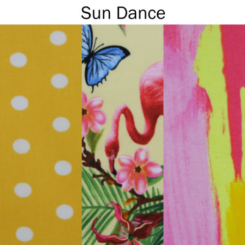 Family pack of wraps Sun Dance fabric patterns