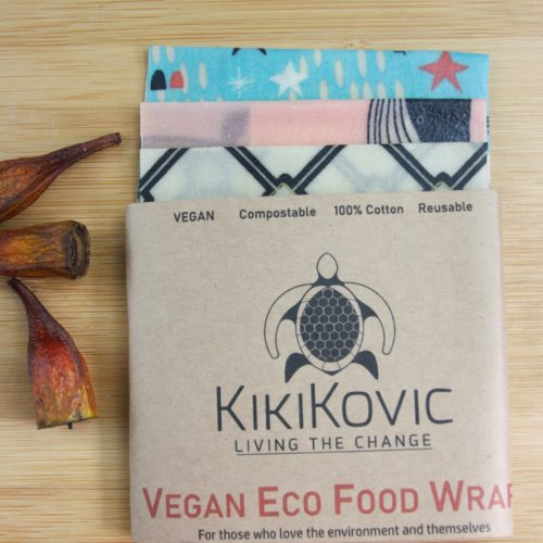 3 pack of small size vegan food wraps