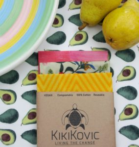 Kikikovic vegan food wraps avocado pattern